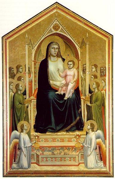 """Giotto """"Maestà di Ognissanti"""" Dorado pan de oro"""