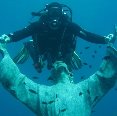 Italian and diving