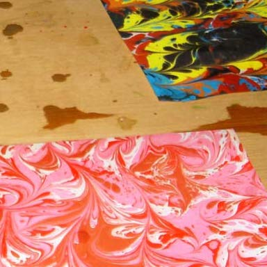 marbled paper course in Florence