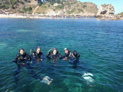 Italian course and diving